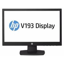Monitor Hp V193 18.5 Pulgadas 1366x768 Negro / L4s23aa#abm