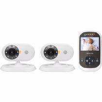 Motorola Mbp25-2 Digital Video Baby Monitor Con 2 Camaras