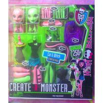 Monster High Gata Y Bruja Munecas Set Crea Tu Monster