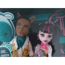 Muñecos Monster High, Pareja Draculaura Y Clawd