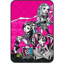 Monster High Estilo Feroz Micro Raschel Manta De Mattel