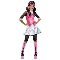 Monster High Draculaura Traje - Uno Color - Medium