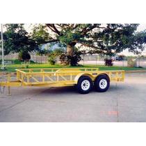 Remolque Cama Baja 6000 Kg, Maquinaria,montacargas,carga Gr