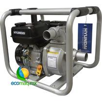 Motobomba De Agua A Gasolina Hyundai 2 Pulg P/ 32mt Ecomaqmx