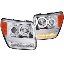 Dodge Nitro 07-08 Projector H.l G2 Halo Chrome Led (ccfl)