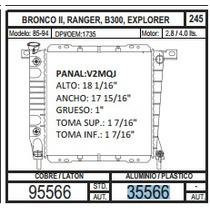 Radiador 35566 Bronco Ii / Ranger 85-94 V6 2.9 / 3.0 +regalo
