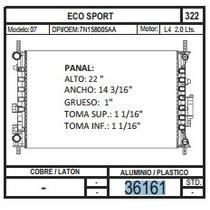 Radiador Eco Sport 07. L4 2.0 36161 + Regalo