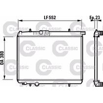 Radiador Peugeot 206 1.6 C/a Classic Valeo