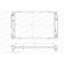 Ford Escape 3.0l Radiador Agua Cs Aire Aut 26mm Mariner 05-0