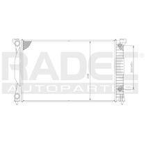 Radiador Ad A4/s4/passat L4 02-08 1.8 Lts Automatico