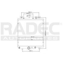 Radiador Chrysler Grand Caravan 1988 L4/v6 2.5/3.0l Automati