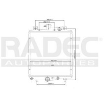 Radiador Chrysler Grand Caravan 1986 L4/v6 2.5/3.0l Automati