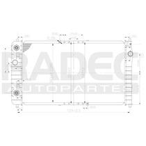 Radiador Cavalier/sunfire 02-05 L4 2.2 Lts Automatico
