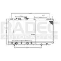 Radiador Tercel 91-95 L4 1.5 Lts Estandar