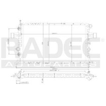 Radiador Chevrolet Astra 2004 L4 1.6/1.8/2.2lts Estand