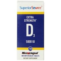 Superior Fuente Extra Strength Vitamina D3 5000 Ui De La Tab