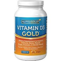 Nutrigold Vitamina D3 Oro (en Aceite De Oliva Orgánico) 2000