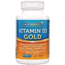 Nutrigold Vitamina D3 5000 Ui 360 Mini Cápsulas Blandas (lib