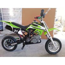Minimoto Cross Verde 49 Cc Pocket Bike Tj Sports