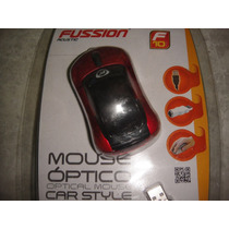 Mouse Usb Optico Tipo Auto Led Colores