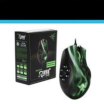 Mouse Gamer Razer Naga Hex Green/red