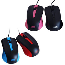 Mouse Optico Usb Ergonomico Varios Colores 1000dpi Pc Scroll