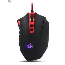 Mouse Redragon Perdition 16400 Dpi Mmo 18 Botones-negro