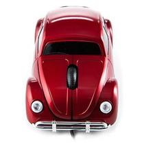 Mouse En Forma De Vocho Rojo Volkswagen Raton Alambrico