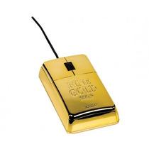 Mouse En Forma De Lingote De Oro Nuevo Alambrico Geek