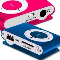 Reproductor Mp3 Shuffle Micro Sd 4gb Usb + Cargador De Pared