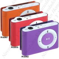 Mini Mp3 Metalico Tipo Ipod Shuffle Clip Micro Sd Hasta 32gb