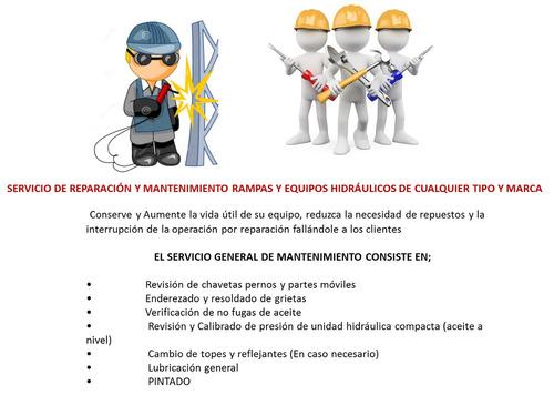 Mtto Rampas Hidraulicas, Gruas, Niveladores De Anden