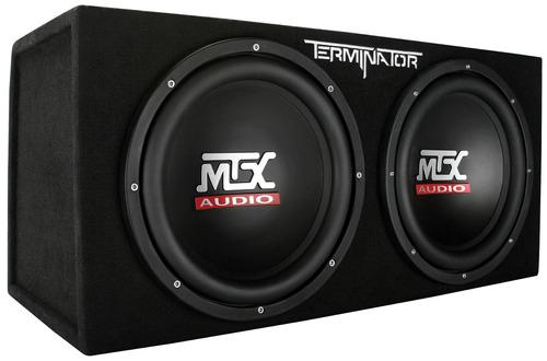Fingerhut - MTX Terminator 1200-Watt Dual Subwoofer and Amplifier