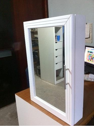 Mueble botiquin con espejo y puerta habatible para ba o for Mueble botiquin