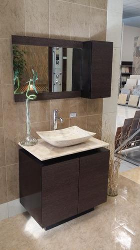 Lavabos Para Baño Con Mueble:Mueble De Baño Con Lavabo De Marmol Y Espejo Mdf Bety – $ 9,64110 en