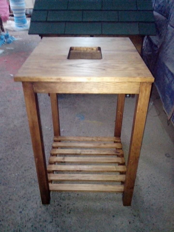 Mueble Mesa Para Lavabo Minimalista 100% Madera Vv4  $ 1,00000 en