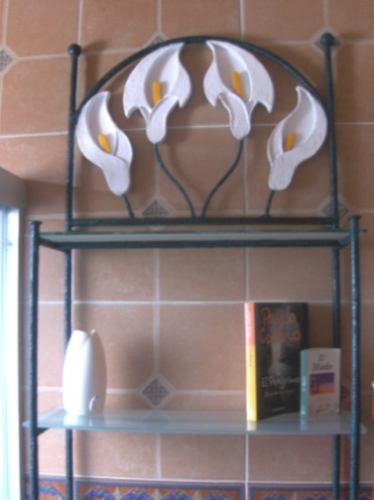 Organizador Mueble Baño:Mueble Organizador Baño, En Herreria Rústica Mod Alcatraz – $