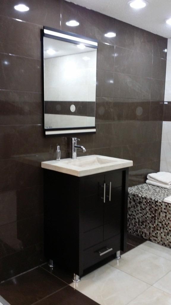Mueble Para Baño Chocolate Mdf Con Lavabo De Marmol Teresa  $ 7,252