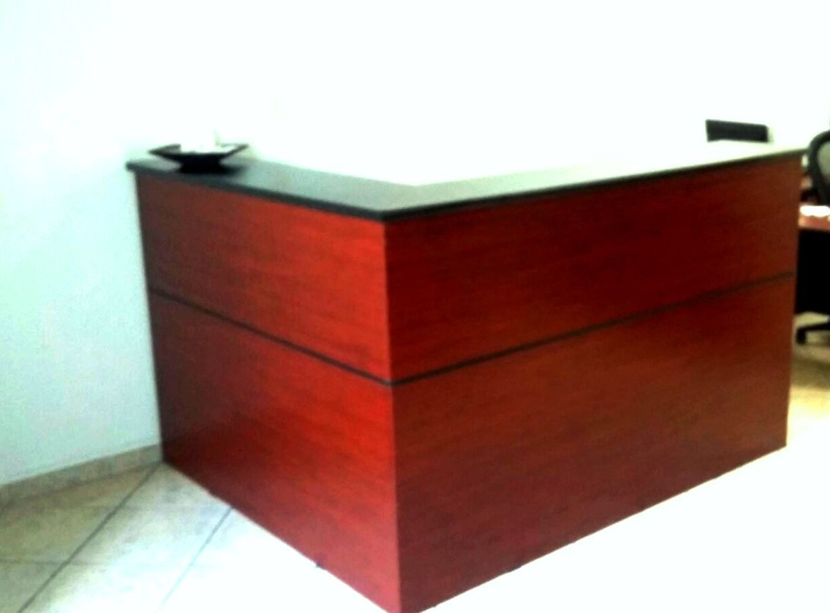 Mueble recepcion l escritorio call center mesa for Mueble recepcion medidas