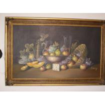 Preciosa Pintura Al Oleo De Bodegon