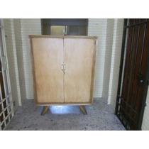 Hermoso Ropero Antiguo Estilo Art Deco En Caoba Liquidacion
