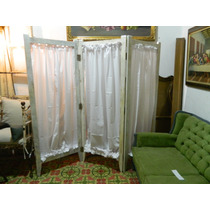 Antiguo Biombo Restaurado Tipo Shabby Chic
