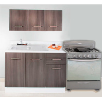Cocina Integral Minimalista 2m Gabinete Alacena Cubierta