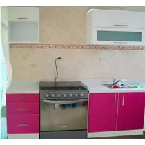 Cocina Integral Minimalista 2.10m Gabinete Alacenas Cubierta