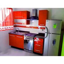 Cocina Integral Minimalista 2.10m Gabinetes Alacena Cubierta