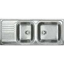 Tarja Cocina 2 Tinas Acero Inox Blancotipo Xl9s Marca Blanco