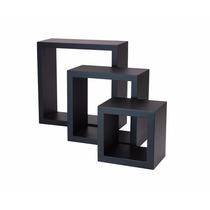 Cubos Decorativos Nexxt 3 Pieza Colores Negro, Blanco Y Cafe