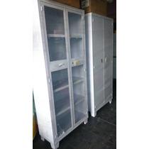 Gabinete Universal Blanco Puertas Con Cristal Anaqueles