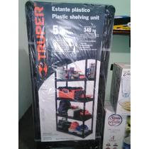 Estante Plastico De 5 Repisas Uso Rudo