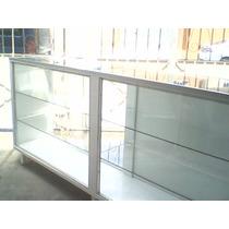 Vitrina Mostrador Exhibidor Entrepaños Cristal...larga 2mts